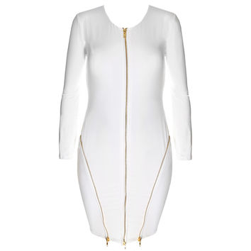 Zip Up Mini, White