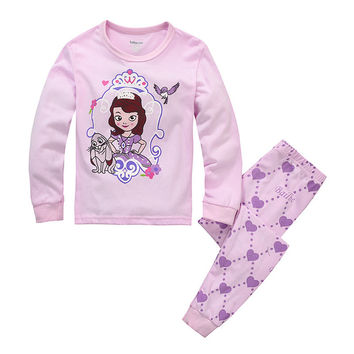 Princess Long Sleeve Home Set Cotton Cartoons Sleepwear [6324916932]