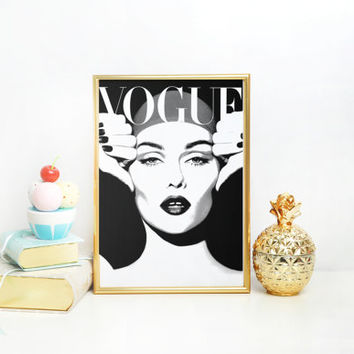 VOGUE PRINT Fashion Poster Digital Download Printable Art Retro Poster Modern Wall Art Vintage Vogue Cover Fashion wall Art 1950 Edition