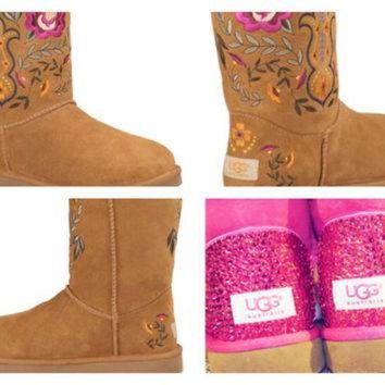 DCCK8X2 Custom UGG Boots made with Swarovski Juliette UGGs Free: Shipping, Repair Kit, Cleanin