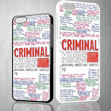 criminal minds quotes X1662 iPhone 4S 5S 5C 6 6Plus, iPod 4 5, LG G2 G3 Nexus 4 5, Sony Z2 Case