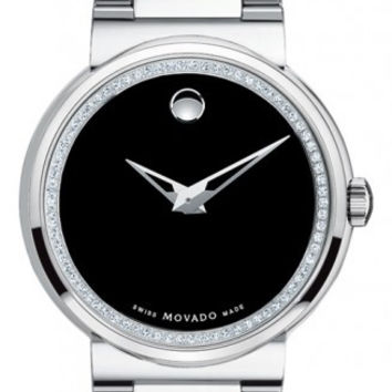 Movado Dura Men's 74 Diamond Dial Tungsten Carbide Museum Dial 41mm Watch 0606434