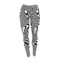 "Danny Ivan ""Trippy"" Black White Yoga Leggings"