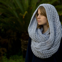 Gray Chunky Scarf, Women's Accessories, Infinity Scarf