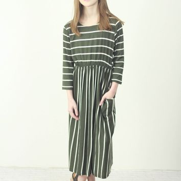 Striped Fit & Flare Dress (Kids)
