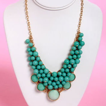 Bubble Vision Teal Statement Necklace