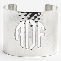 Women's Rustic Cuff Wide Personalized Monogram Cuff