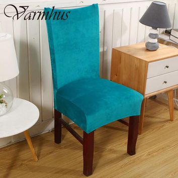 Varmhus Universal Fox Pile Fabric Stretch Chair Cover Elastic Chair Seat Covers For Banquet Home Decoration Home Slipcover