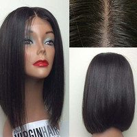 Lace Front Wig Brazilian Remy Human Hair Straight Hair Lace Wigs with Baby Hair