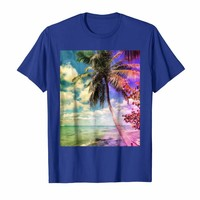 Prismatic Palm Tree on Isla Saona Dominican Republic T-Shirt