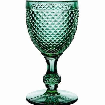 Bicos Green White Wine Glasses - Set Of 4