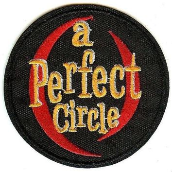A Perfect Circle Iron-On Patch Round Letters Logo