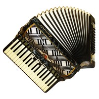 German Barcarole Magister, 80 Bass, 8 Registers, Case, Piano Accordion Instrument (485)