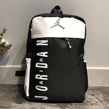 e2f63ee39248 Jordan Woman Men Casual Fashion Backpack Bookbag Shoulder Bag
