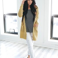 Easy Does It Cardigan - Sunflower