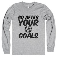 Go after your goals-Unisex Heather Grey T-Shirt