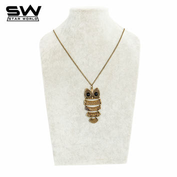 Trendy Mix Style Tower Pendant Cross / Peacock / Water Drop / Owl / Flower / Horse Necklace Fit Women Costume Accessories JN002