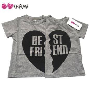 Boys and Girls Best Friends Matching T-Shirt Top