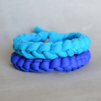 Mens jewelry. Royal blue mens bracelets. Second anniversary gift for men Halloween costume cosplay Men aqua accessory Men beach bracelet