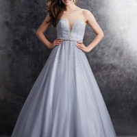 Madison James Tulle Prom Ball gown 15-106