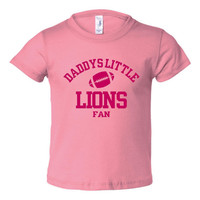 Daddys Little Lions Fan Toddler And Youth T-Shirt Detroit Fans Printed Tee for Kids Creepers & T-Shirts. Makes a Great Gift!!