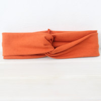 Triumphant Pumpkin Orange Baby Turban Headband