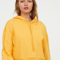 Short Hooded Sweatshirt - Yellow - Ladies | H&M US