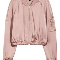 Short bomber jacket - Old rose - Ladies | H&M GB