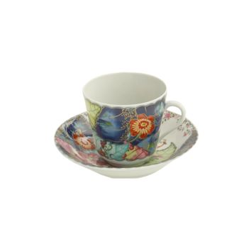 Mottahedeh Tobacco Tea Cup and Saucer