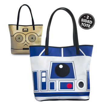 Star Wars Loungefly 2 Sided R2-D2 AND C-3PO Tote Bag