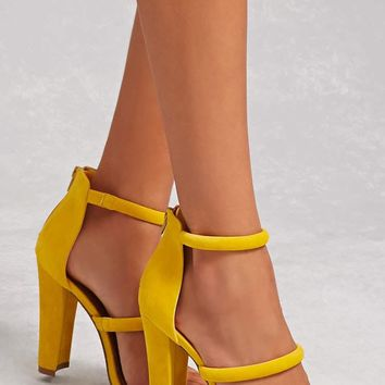 Shoe Republic Faux Suede Heels