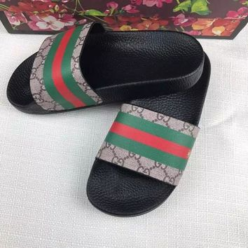 Gucci :Casual Fashion men and women Sandal Slipper Shoes I