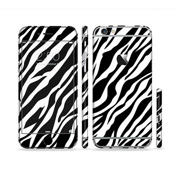 The Simple Vector Zebra Animal Print Sectioned Skin Series for the Apple iPhone 6s