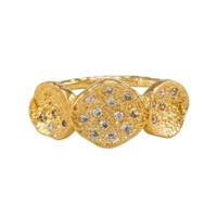 Melinda Maria Gold Jennifer Ring White CZ