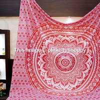 Hippie Mandala Tapestry wall hanging Ombre mandala tapestries boho bohemian Queen bedding throw bedspread beach sheet ethnic home decor art