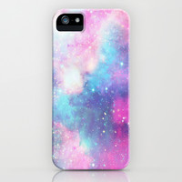 Galaxy iPhone & iPod Case by Pink Berry Pattern