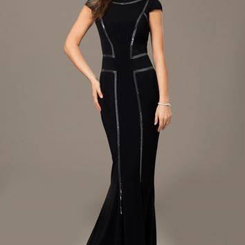 Cap Sleeve Jersey Gown 26362 - Evening Dresses