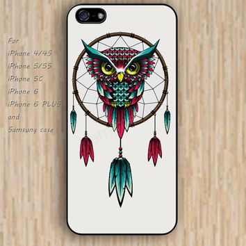 iPhone 6 case dream dream catcher owl iphone case,ipod case,samsung galaxy case available plastic rubber case waterproof B168