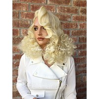 Paisley Vintage Style light blonde lace front wig 14""
