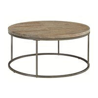 ACG-075 Alana Round Acacia Wood Top Coffee Table