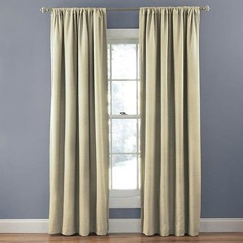 Eclipse Corsica Crushed Microfiber Blackout Curtain Panel 50 By 63 Natura
