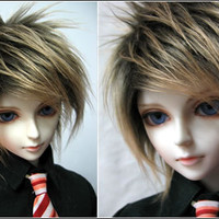 Sunny's Wonderful World - BJD 1/3 1/4 Super Dollfie - No.3 Gold long fur wig