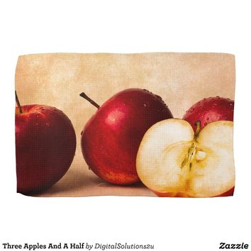 Three Apples And A Half Kitchen Towel