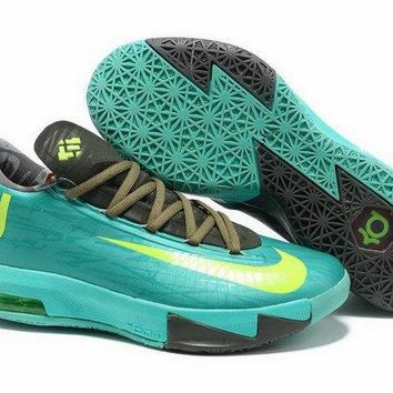 Spring Summer 2018 How To Buy Kevin Durant VI Atomic Turquoise Electric Yellow Volt Sport Turquoise 599424 200 Brand sneaker