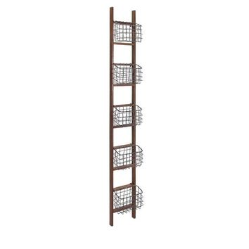 Carlow Wood Ladder Shelf