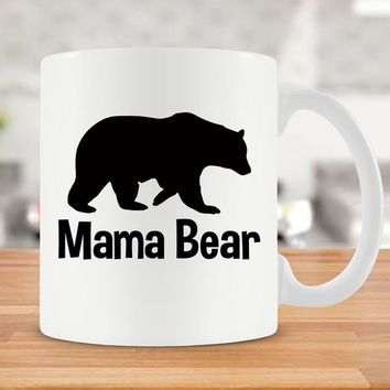 Coffee Mug For Mom Gift Idea New Mom Mug For Her Mom Coffee Cup Mommy Gifts For Mothers Day Present Mama Bear Mug Ceramic Mug - SA385