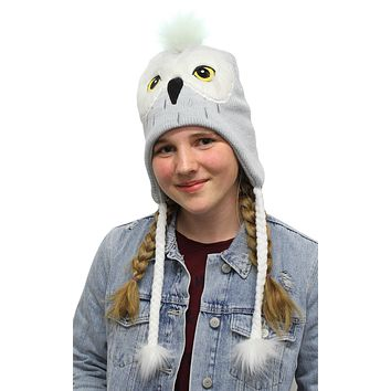 Harry Potter Beanie Hedwig Owl Costume Laplander Hat Pom Beanie