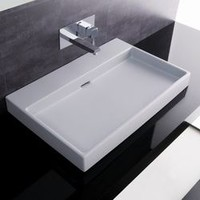 WS Bath Collections Ceramica I Urban Ceramic Bathroom Sink