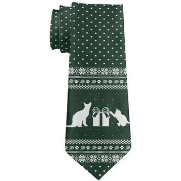 LMFCY8 Ugly Christmas Sweater Cats Gifts All Over Neck Tie