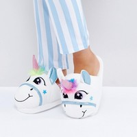 Loungeable Unicorn Slip on Slipper at asos.com